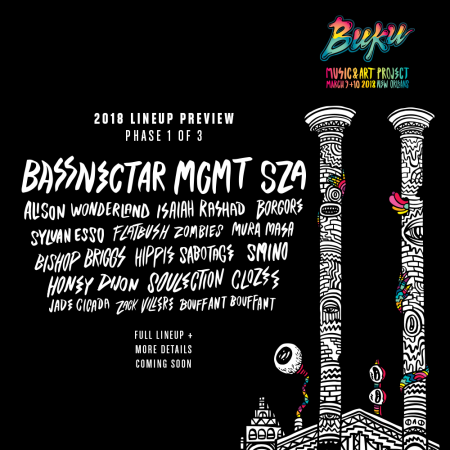Buku Music and Art Project announce Phase 1 Lineup