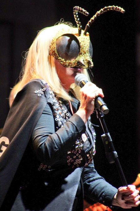 Blondie's Debby Harry performs at the Beacon Theatre in New York City.