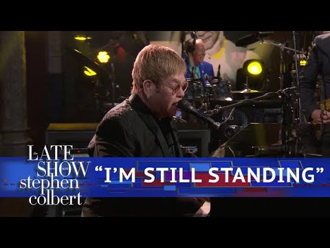 Watch: Elton John perform 'I'm Still Standing' on 'The Late Show'