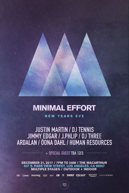 Minimal Effort announces lineup for New Year's Eve blast in downtown Los Angeles