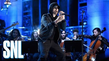 Watch: Eminem returns to 'Saturday Night Live' with a trio of duets alongside Skylar Grey