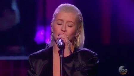 <p>Christina Aguilera performs at the 45th American Music Awards</p>
