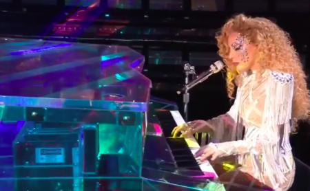 <p>Lady Gaga performs live in Washington, DC as part of the 45th American Music Awards.</p>