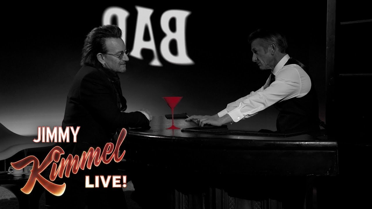 Watch: Bono and Chris Martin perform 'One for my Baby' on 'Jimmy Kimmel Live'