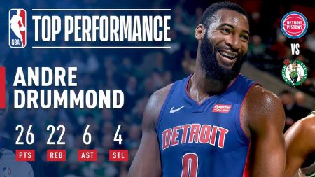 Andre Drummond continues transformation for thriving Detroit Pistons