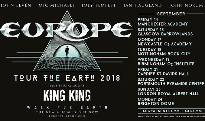 EUROPE tickets at Brighton Dome, Brighton