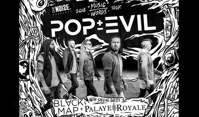 The Noise Presents - Pop Evil: Music Over Words Tour tickets at Starland Ballroom in Sayreville
