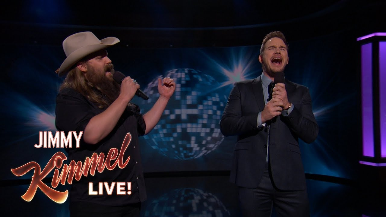 Watch Chris Pratt and Chris Stapleton duet on '(I've Had) The Time of My Life'