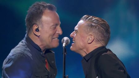 Watch: Bruce Springsteen joins Bryan Adams on stage at Invictus Games Closing Ceremony