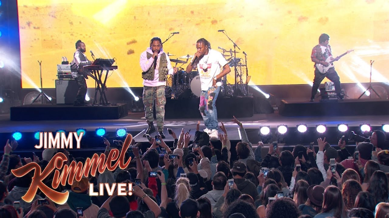 Watch Miguel and Travis Scott perform 'Sky Walker' on 'Jimmy Kimmel Live'