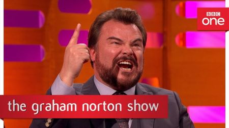 Watch Jack Black sing his 'Jumanji' theme song during The Graham Norton Show