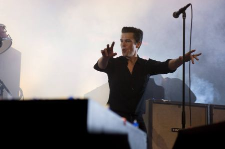 The Killers helped bring the music of The Smiths to the stage at the KROQ Almost Acoustic Christmas concert on Sunday following Morrissey's