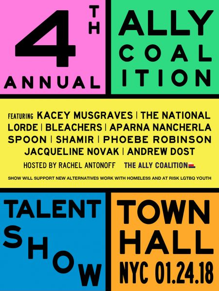 Lorde, Kacey Musgraves, Spoon and more set to perform at The Ally Coalition's 4th Annual Talent Show