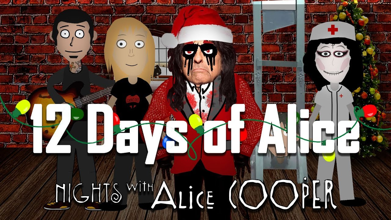 Watch: Alice Cooper wishes fans happy holidays with new video '12 Days of Alice'