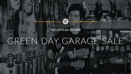 Billie Joe Armstrong holding garage sale with Green Day equipment