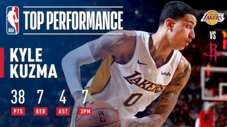 The legend of Lakers' Kyle Kuzma continues to grow