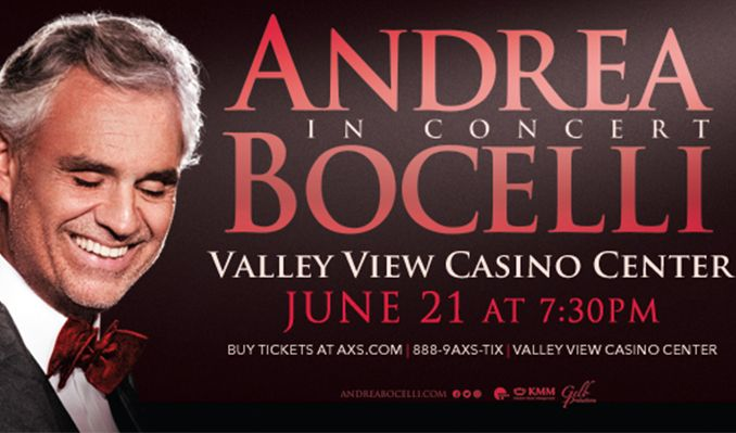 additional offers vip packages promotions and special offers for andrea bocelli. Black Bedroom Furniture Sets. Home Design Ideas