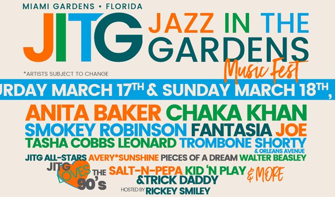 jazz in the gardens 2018 tickets in miami gardens at hard rock stadium on sat mar 17 2018 4 00pm