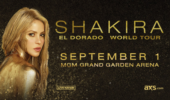 Shakira tickets at MGM Grand Garden Arena in Las Vegas