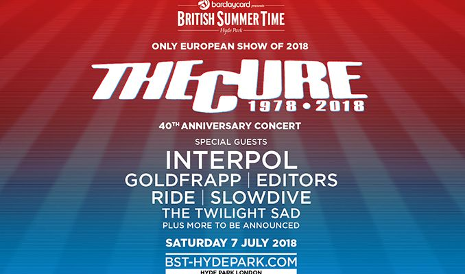 The Cure tickets at Hyde Park, London