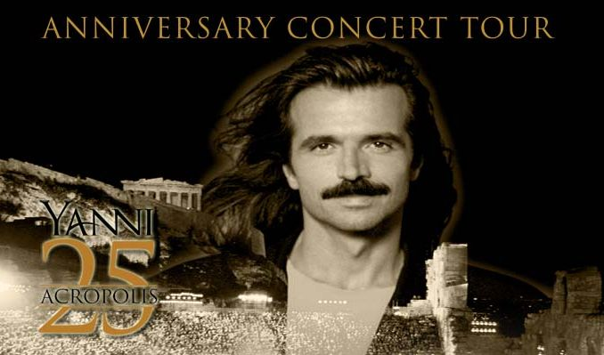 Yanni-25th Anniversary of Live at the Acropolis tickets at St. Augustine Amphitheatre in St. Augustine