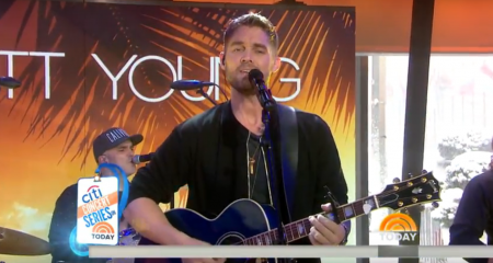 "Brett Young performs on ""The Today Show."""