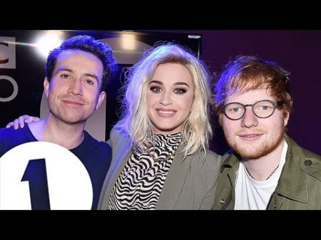 Watch: Ed Sheeran crashes Katy Perry's pre-Brit Awards interview
