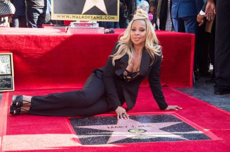 Mary J. Blige was honored with a star on the Hollywood Walk of Fame.