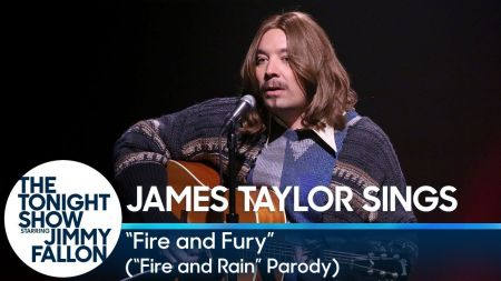 Watch Jimmy Fallon parody with James Taylor inspired 'Fire and Fury'