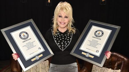 Dolly Parton received two 2018 Guinness World Records.