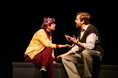 "Sarah (Michelle Mary Schaefer) & James (Jeremy Lynch) in TLT's production of ""Children of a Lesser God."""