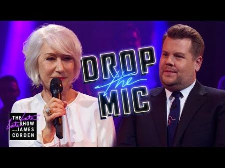 Watch Helen Mirren rap battle with James Corden on 'Late Late Show'