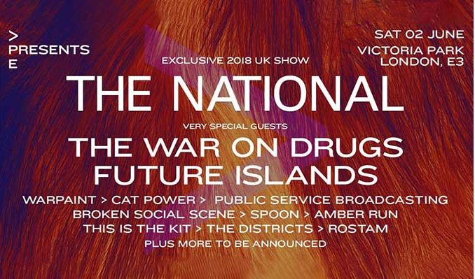 The National tickets at Victoria Park in London