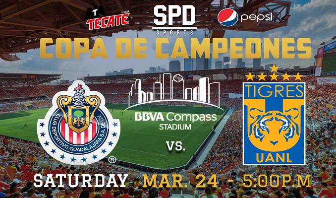 Tigres vs. Chivas tickets at BBVA Compass Stadium in Houston