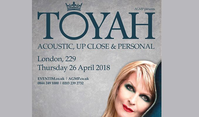 Toyah tickets at 229 The Venue in London