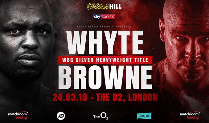 Whyte vs Browne tickets at The O2, London