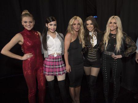 Kelsea Ballerini, Sofia Carson, Britney Spears, Hailee Steinfeld and Jamie Lynn Spears at the Radio Disney Music Awards