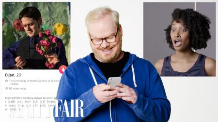 Jim Gaffigan swipes right on latest episode of 'Tinder Takeover'