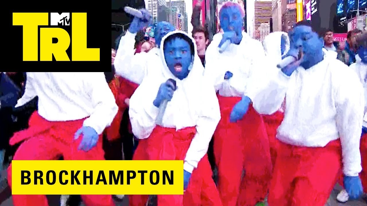 Watch BROCKHAMPTON make Times Square 'BOOGIE' during their performance on 'TRL'