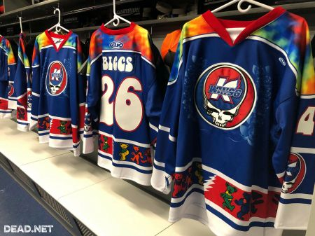 The Michigan minor league hockey team, Kalamazoo Wings, will honor the Grateful Dead this weekend by wearing some pretty stylish tie-dye jer