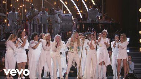Kesha gives emotional performance of 'Praying' at the Grammy Awards