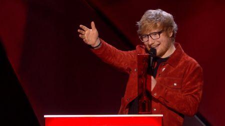 Elton John, Ronnie Wood introduce Ed Sheeran's Global Success Award during BRIT Awards 2018