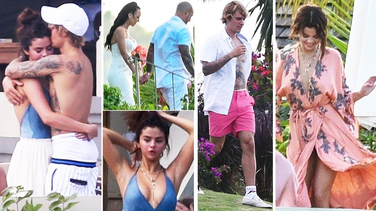 Justin Bieber and Selena Gomez attend his dad's wedding in Jamaica
