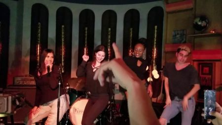 Lana Del Rey does karaoke to her own song 'Cherry' at L.A.'s Peppermint Club