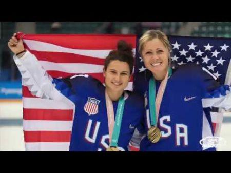 LA Kings honor USA women's gold-winning hockey team