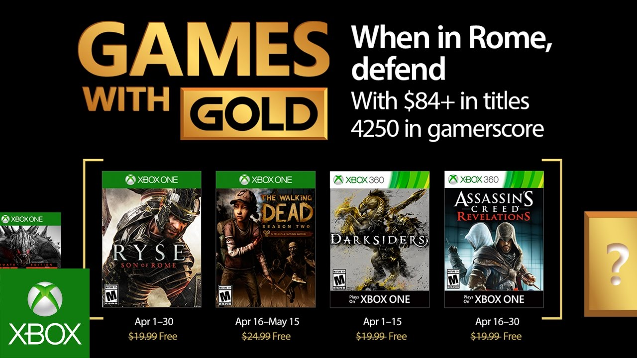April Xbox Games With Gold Are Almost Here Axs