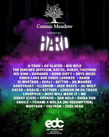 EDC Las Vegas 2018 announces cosmicMEADOW lineup