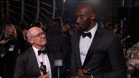 Los Angeles Lakers' legend Kobe Bryant takes home Academy Award