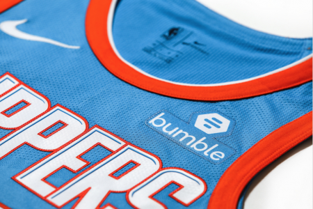 The jersey patch will debut Tuesday night against the New Orleans Pelicans.