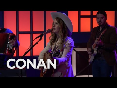 Margo Price addresses the 'Pay Gap' with performance on 'Conan'